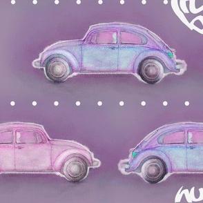 LoveBug VW Beetle - purple