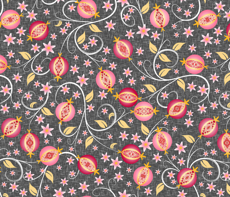 A Jewel of a Fruit fabric by inscribed_here on Spoonflower - custom fabric