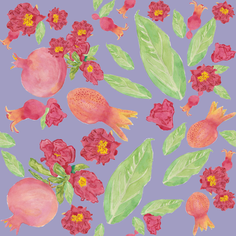 Pomegranate perhaps fabric by demouse on Spoonflower - custom fabric