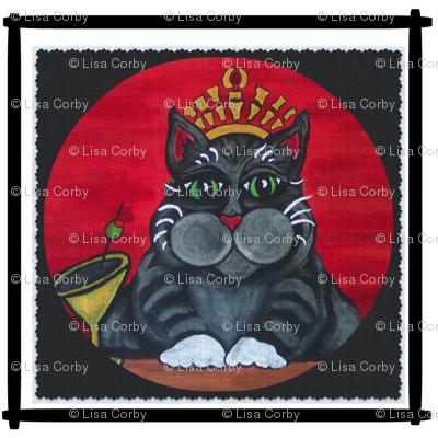 Cat Queen Fabric