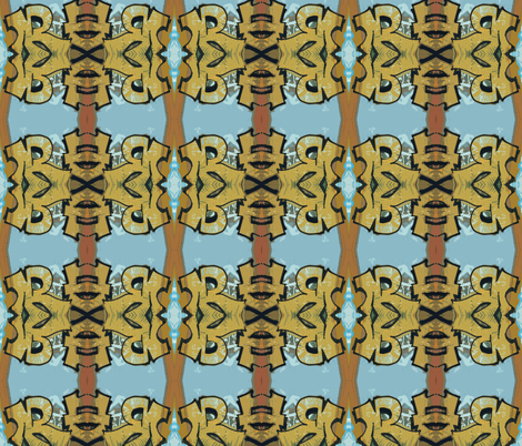 Tiki Totem fabric by susaninparis on Spoonflower - custom fabric