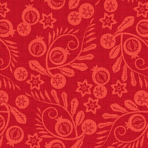 pomegranate garden red