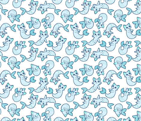 Mercats fabric by hugandkiss on Spoonflower - custom fabric