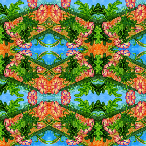 Along the Garden Path fabric by edsel2084 on Spoonflower - custom fabric