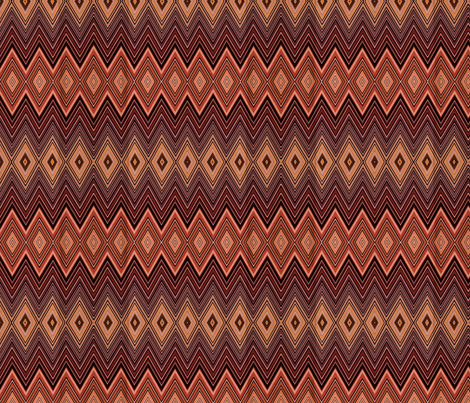 AZTEC DIAMONDS CHEVRON fabric by bluevelvet on Spoonflower - custom fabric