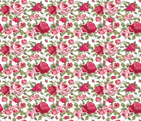 PRINCESS ROSES fabric by bluevelvet on Spoonflower - custom fabric