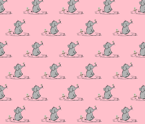 Jessica_s_Elephant fabric by evelynrosedesigns on Spoonflower - custom fabric