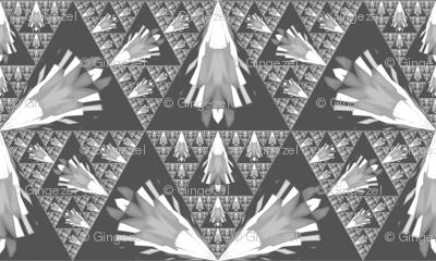Gray and White Fractal Geometric © Gingezel™ 2012