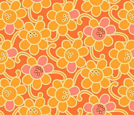 Pop-u-lar Flower  fabric by genebrown on Spoonflower - custom fabric