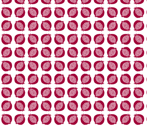 pomegranate fabric by sylvine on Spoonflower - custom fabric