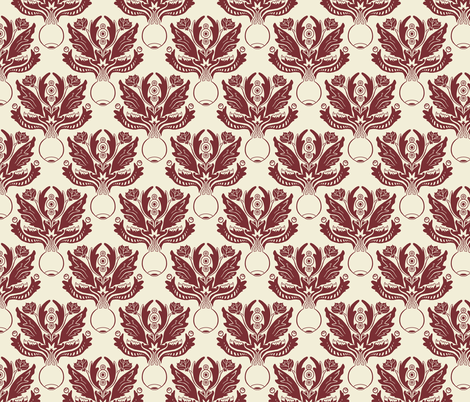 Ocular Damask - Beige fabric by pi-ratical on Spoonflower - custom fabric