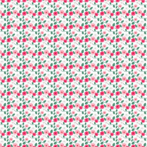 Little roses - Doll fabric sized fabric by irrimiri on Spoonflower - custom fabric