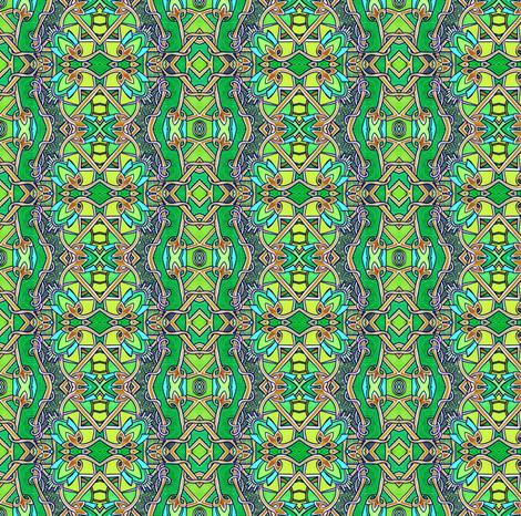 Emerald Miles (vertical stripe) fabric by edsel2084 on Spoonflower - custom fabric