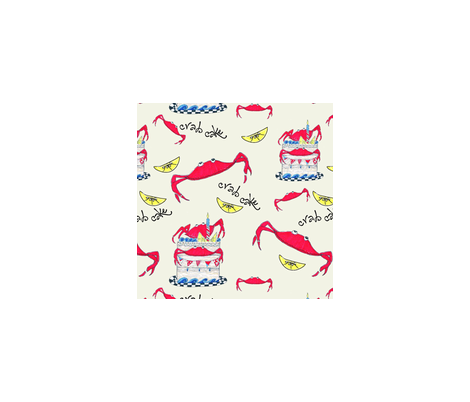 crab cake fabric by cbronsky on Spoonflower - custom fabric
