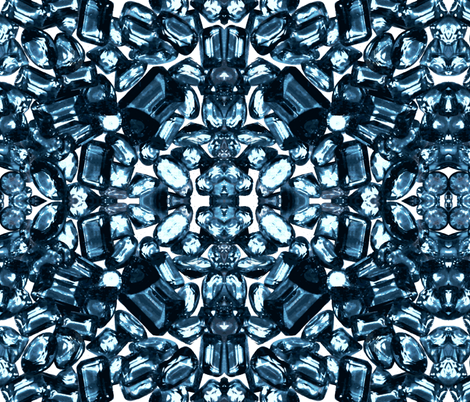 Royal Gems /  Sapphire fabric by paragonstudios on Spoonflower - custom fabric