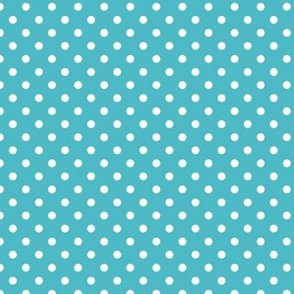 spots - blue teal