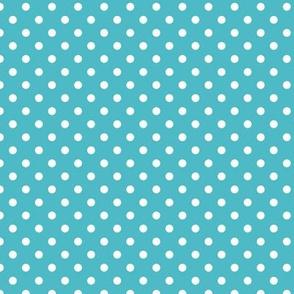spots - blue teal