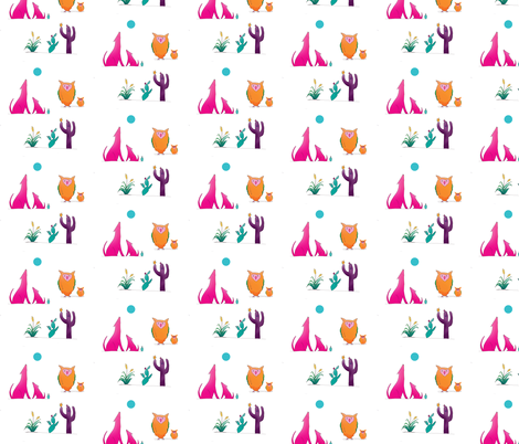 Desert Friends Pattern fabric by aftermyart on Spoonflower - custom fabric