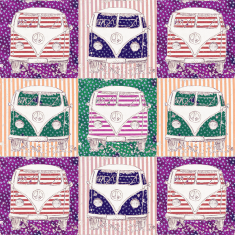 purple camper fabric by 7oaks-design on Spoonflower - custom fabric