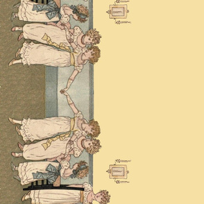 Kate Greenaway Little Dancers Border Print