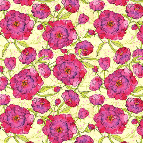 JoyahPink fabric by seattlerain on Spoonflower - custom fabric