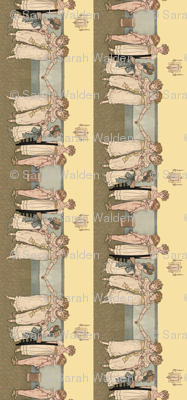 Kate Greenaway Little Dancers Border Repeat