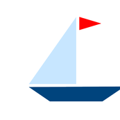 Red Flag Sail Boat