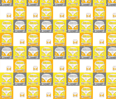 yellow camper fabric by 7oaks-design on Spoonflower - custom fabric