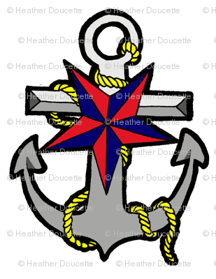 Nautical Star and Anchor