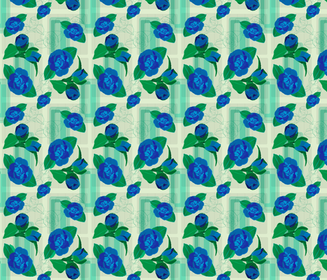 bluerose fabric by bussybuffu on Spoonflower - custom fabric