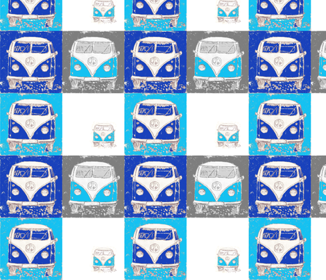 blue camper fabric by 7oaks-design on Spoonflower - custom fabric