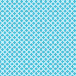 Small trellis blue