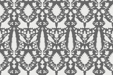 Avignon in Charcoal fabric by sparrowsong on Spoonflower - custom fabric