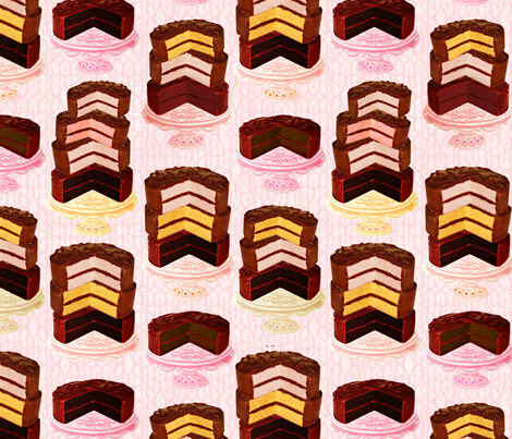 cake2 fabric by red_head_girl on Spoonflower - custom fabric