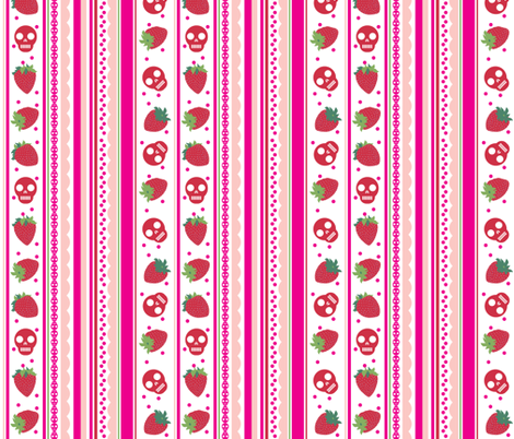 Sweet Death Stripe-01 fabric by happyhappymeowmeow on Spoonflower - custom fabric