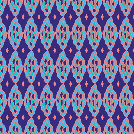 Happy Faces #7: Wavering Diamonds fabric by tallulahdahling on Spoonflower - custom fabric