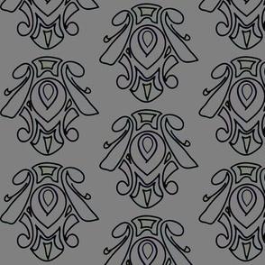 Mid-Century Swirl - Grey