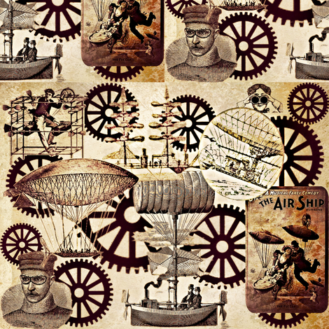 The Air Ship fabric by marchhare on Spoonflower - custom fabric