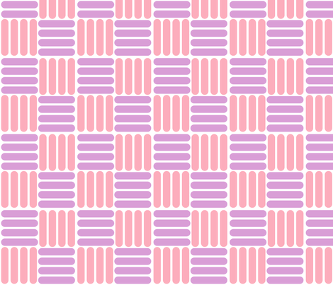 basket - pink purple fabric by gingerme on Spoonflower - custom fabric