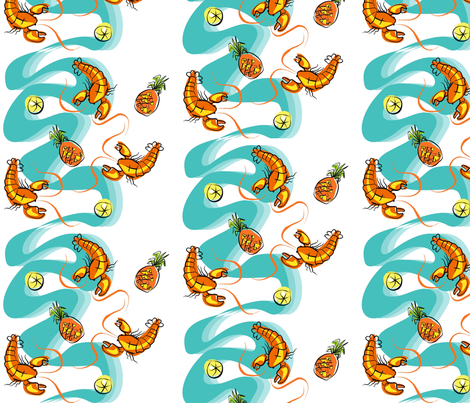 Rock Lobster fabric by moirarae on Spoonflower - custom fabric