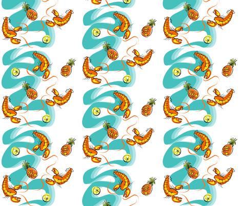 Rock Lobster fabric by moirarae on Spoonflower - custom fabric