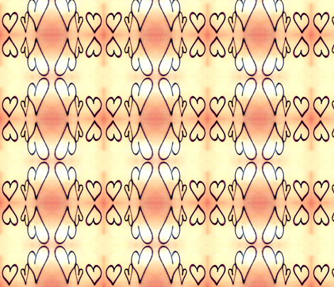 Hearts fabric by bamboohoney on Spoonflower - custom fabric