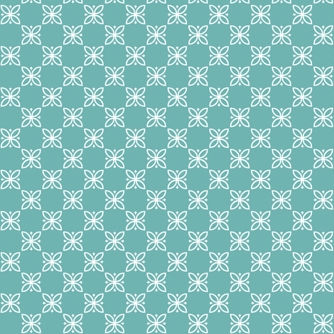 Turquoise Flower fabric by pennycandy on Spoonflower - custom fabric
