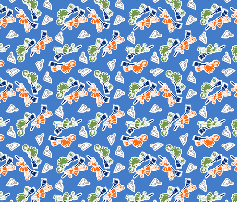 Sweeping fabric by tuppencehapenny on Spoonflower - custom fabric