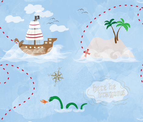 Ship Ahoy! fabric by cottageindustrialist on Spoonflower - custom fabric