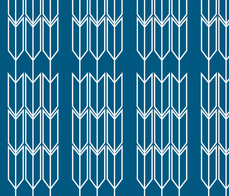 Blue_Arrow fabric by designedtoat on Spoonflower - custom fabric