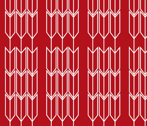Red_Arrow fabric by designedtoat on Spoonflower - custom fabric