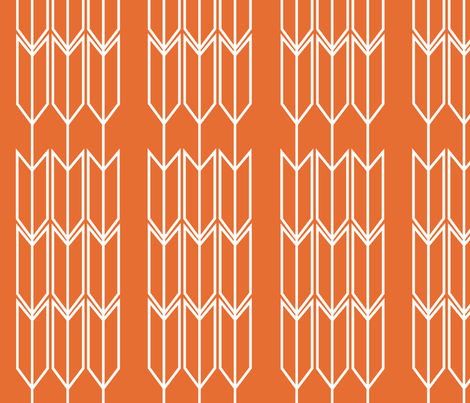 Orange_Arrow fabric by designedtoat on Spoonflower - custom fabric