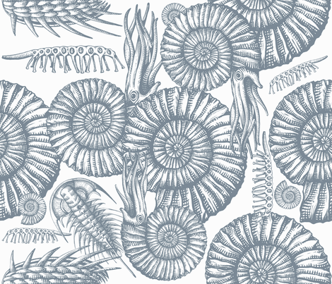 ANCIENTSEAgray fabric by chicca_besso on Spoonflower - custom fabric