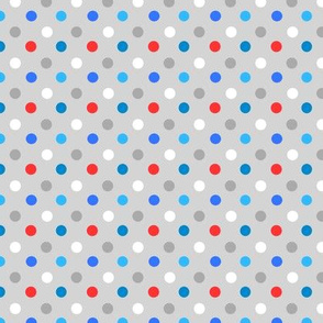 Red, Blue dots